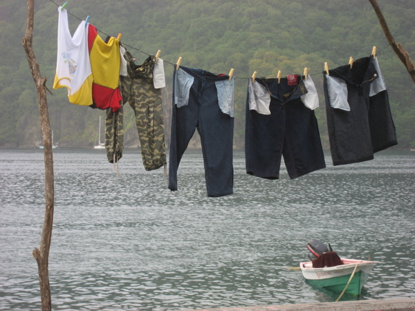 Laundry with Boat